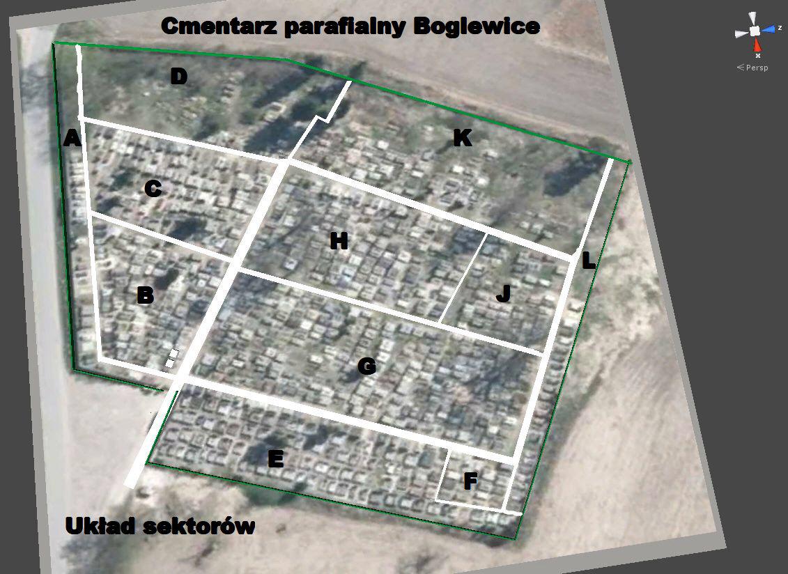 Cmentarz_parafialny-Boglewice-układ_sektorów